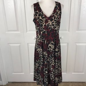 Donny and Nicole Sleeveless Floral Swing Dress